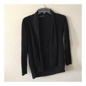 Zara jersey Knit open cardigan black sweater S